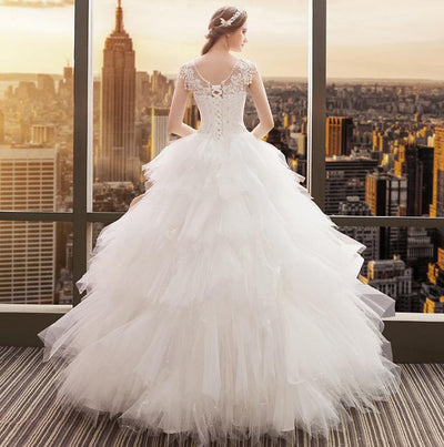 CW119 Cheap embroidery Wedding Dress