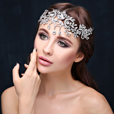 BJ36 Crystals plant Bridal Hair Jewelry (4 Colors)
