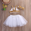 FG233 : 3pcs Sequins Toddler Baby Girl Outfit set