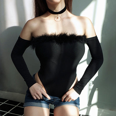 JR18 Sexy Slash  Fur Bodysuits