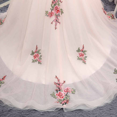 CG92 Flowers sweet  quinceanera dresses