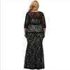 PP223 Plus Size 3/4 sleeve Lace Evening Dresses
