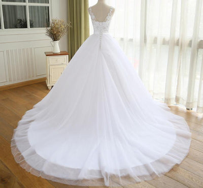 CW43 Real Picture crystal belt Wedding Dress