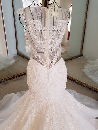 HW69 Sexy see through back mermaid  Wedding gowns