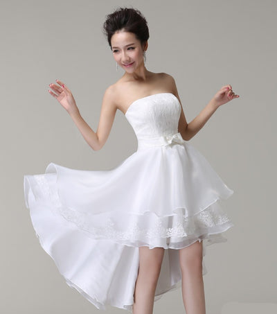 SS30 High Low  Puffy Wedding Dresses