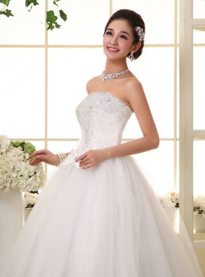 CG11 Plus size Korean Style Sweet Princess Wedding Dresses