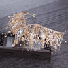 BJ92 Baroque Crystal jewelry Set :wedding Crown+ Earrings(Gold/Silver)