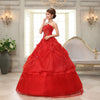 CG09 Cheap Korean Flowers Strapless Wedding Dress