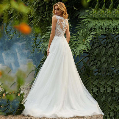 CW25 Plus size garden Wedding dress