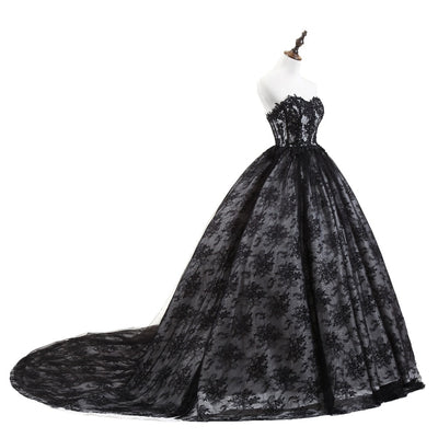 CG48 Black lace Quinceanera dress