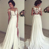 CW03 Vintage Chiffon Beach Wedding Dress