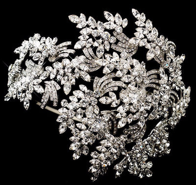 BJ38 Luxury crystal leaf Wedding Headband