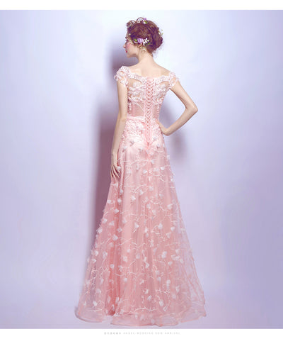PP151 Sweet Pink A line Prom dress