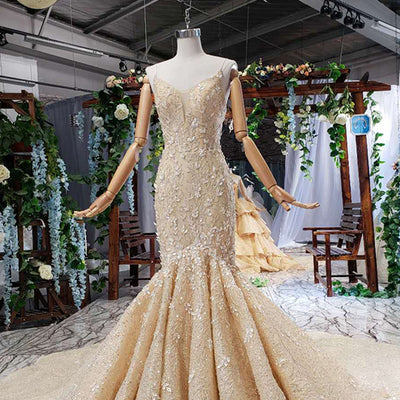 Luxury Spaghetti Straps mermaid wedding dress with jacket