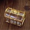 16pcs/12pcs Gold Transparent Plastic Gift Boxes