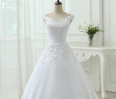 CW64 Real Photo A-line Wedding Dress