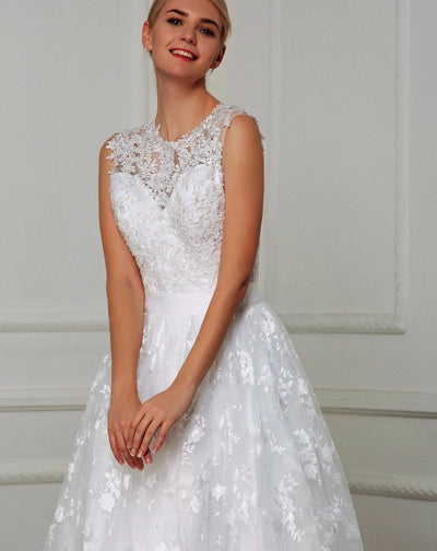 CW23 : 2in1 lace Wedding Dresses