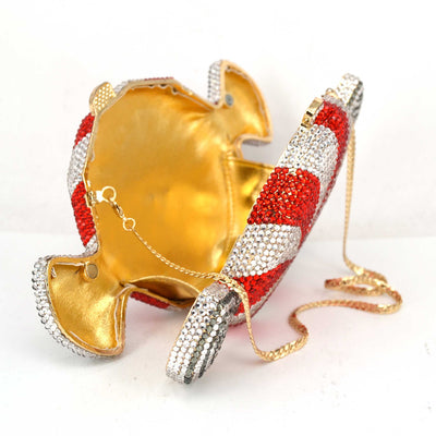 CB61 Candy shape Crystal Evening Clutch  bags (2 Colors)