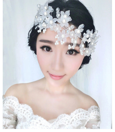 BJ32 Flower peals Bridal  Hair Jewelly