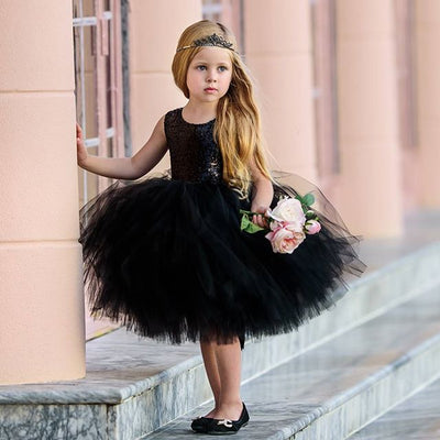 FG06 Sequins Party Dress For Girls