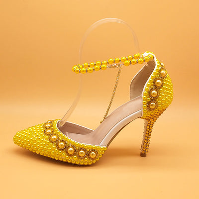BS34 Pearl rhinestone Bridal shoes (7 Colors)