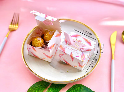 10pcs DIY Paper Candy Boxes for Wedding,Baby Shower, Party Supplies