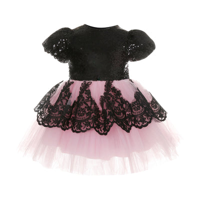 FG71 Lace sequins Tutu baby Girl Dress