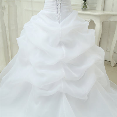CW225 Real Photo strapless A Line Bridal Gowns