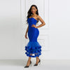 MX234 Sexy strapless ruffle Club dress