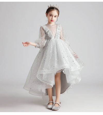 FG325 : 3 Styles Grey Princess dresses for girls
