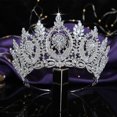 BJ226 Big diamond Bridal Crown