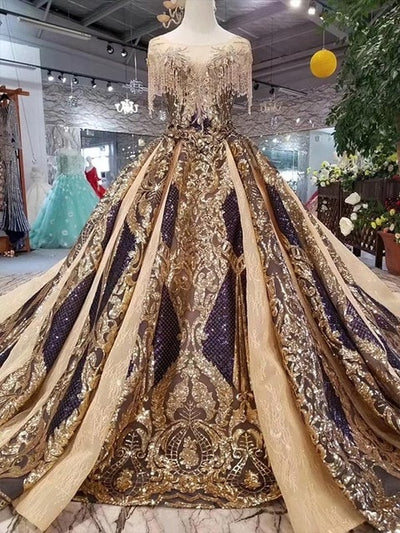 CG145 Real Photo Dubai style Pageant gown