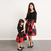 MM06 3/4 sleeve floral Print Mini me matching Dresses