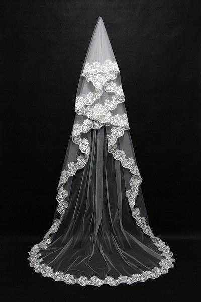 BV04 : 10 Styles One Layer Lace Edge Wedding Veil