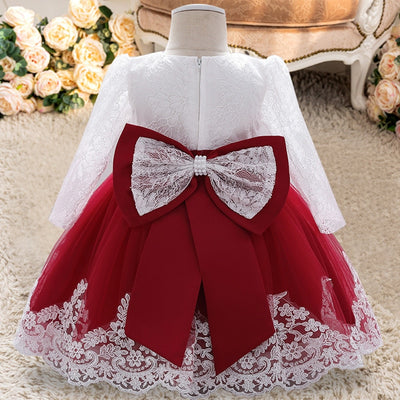 FG364 Birthday Dress For Baby Girls ( 6 Colors)