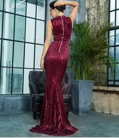 PP34 Sequins Elastic Evening Dresses