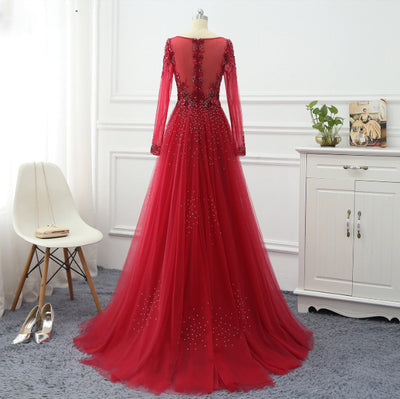 Glamorous  Sparkly beaded Evening Dresses (5 Colors)