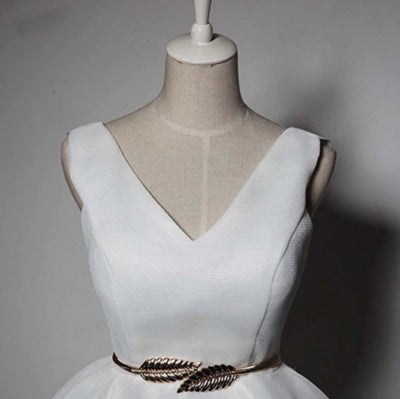 SS107 Real Photo short Bridal Party outfit with belt(3 Colors)