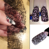 100cmx4cm New 2018 Black Lace Transfer Foil Nail Art Sexy Full Wraps Flower Glue Adhesive DIY Manicure Styling Tools
