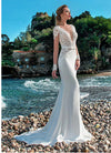 CW121 See-through Scoop Neckline Mermaid Wedding Dress