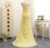 PP153 Yellow A-line One-shoulder Evening Gown
