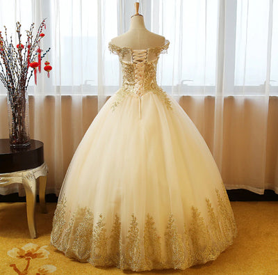 CG63 Off the shoulder Quinceanera Dresses(3 Colors)