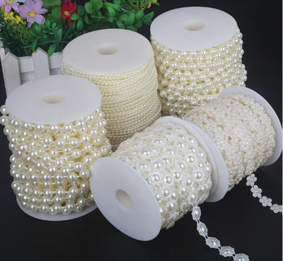 Pearl Beads Chain Trim for DIY Wedding & Party Decoration (19 Styles)