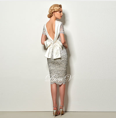 PP21 High Neck Sexy Backless Short Cocktail Dress