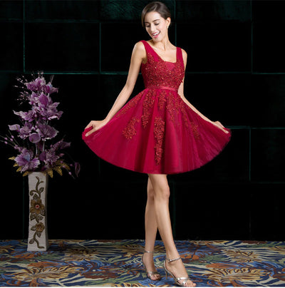 BH17 Lace Short Homecoming Dresses (11 Colors)