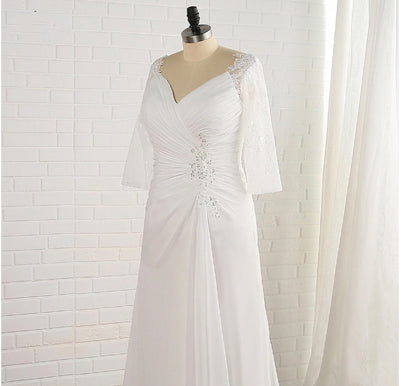 CW167 Real Photo Plus Size simple Wedding Dress