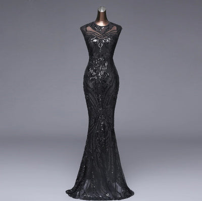 PP54 Sequin Sexy Backless Evening Dresses(4 Colors)