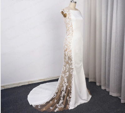 CW18 See-through Cutout Side Mermaid Wedding Dress