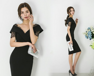 MX233 Korean style Knee-Length Party Dress