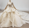 Luxurious full handmade beaded pearls Wedding Gown